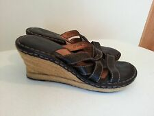 """Born black sandals with 3"""" wedge - womens size 7"""