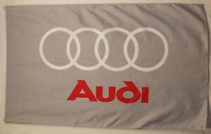 Audi Gray Premium Flag 3' x 5' Indoor Outdoor Automotive Banner (USA Seller)