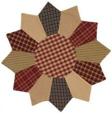 Primitive//Vintage~`Granny's` Cranberry Patchwork Table  Mat``The Country House`