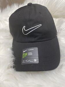 Nike Adult Unisex M/L Dri-Fit Swoosh Flex Cap Unstructured Black Classic99