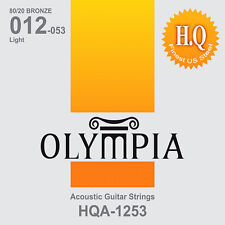 Olympia high quality platinum acoustic guitar strings 12-53w Full Set