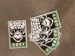 Yoda style sticker pack x 5, Star Wars