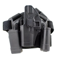 Tactical Left hand Leg Thigh Paddle Drop Holster w/2 Pouch for Glock 17 19 22 23