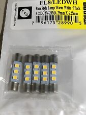 AC/DC 8V, 20mA LED Fuse Lamps - 5 pack Warm White or Cool Blue.