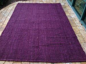 Safavieh Jute Barbados Flat Weave Thick  Purple  Hand Made Rug 6 x 9