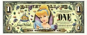 1955-2005 4 Digit A Series Cinderella #A0005409 50th Anniversary Disney Dollar