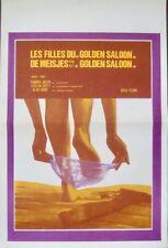GIRLS OF THE GOLDEN SALOON Belgian movie poster SEXPLOITATION SANDRA JULIEN 1975