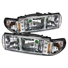 Chevy 91-96 Caprice Impala Chrome Replacement LED Headlights w/ Corner Signal