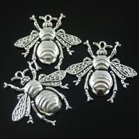 10 pcs Antique Style Silver Alloy Bee Look Charms Pendant DIY Jewelry Findings