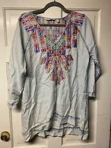 Soft Surroundings Tunic Embroidered. Sz L