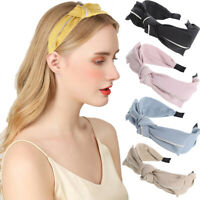 Women's Ear Bow Headband Hairband Knot Crystal Hair Band Hoop Accessories Prom