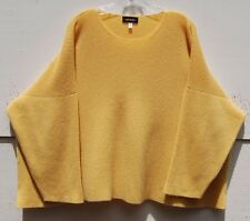 Eskandar Bergdorf Goodman YELLOW Medium Weight Cashmere Ribbed Sweater O/S $1890