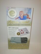 Baby Craft Milestone Blanket (102x102cm) With 10 Photo Props Baby's First Boxed
