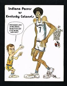 1971 –1972 Indiana Pacers vs Kentucky Colonels ABA Basketball Program at Indiana