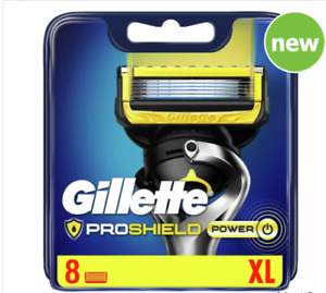 GILLETTE PROSHIELD POWER BLADES 8 BLADES IN TOTAL NEW & SEALED 100% GENUINE