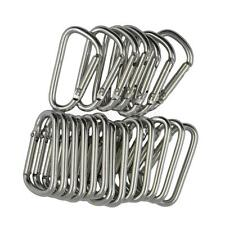 20X D Ring Shape Carabiner Spring Snap Key Chain Clip Hook Outdoor Buckle