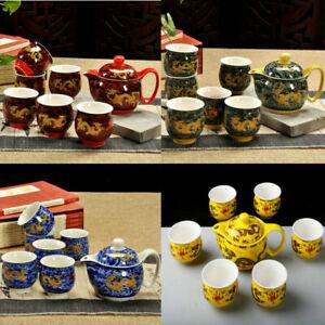 Hot 7pcs Chinese Dragon Porcelain Tea Set China Tea Sets Ceramic Pot Cup