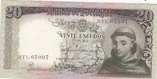 BILLET BANQUE PORTUGAL 20 ESCUDOS 1964 SANTO ANTONIO état voir scan 097