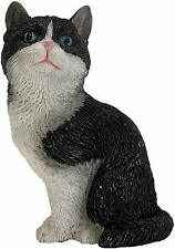 "Tuxedo American Shorthair 3"" Tall Cat Figurine"