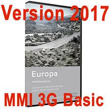Cartographie dématérialisée 2017-2018 Navigation Audi MMI 3G Basic + activation