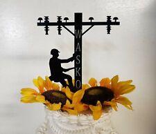 Linemen cake topper, IBEW, linecrew, Electrical worker, Lineman birthday