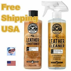 CHEMICAL GUYS LEATHER CLEANER  PH BALANCED SUPERIOR CLEANER  LIFTS AWAY DIRT USA