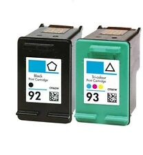 2pk For HP 92 C9362WN Black & 93 C9361WN Color For Photosmart C3173 C3175 C3183