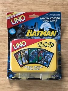 Batman Special Edition Uno Card Game New Factory Sealed OOP Sababa Toys 2005