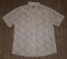 MENS Sz L white & grey TARGET buttoned front shirt COOL! TRENDY!