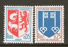 PAIRE TIMBRES 1468-1469 NEUF XX - BLASONS DE AUCH ET DE MONT-DE-MARSAN