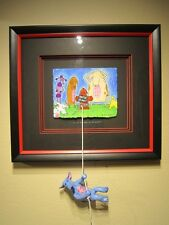 """Matt Rinard """"I'm At The End Of My Rope"""" Original pastel and gouache and clay"""