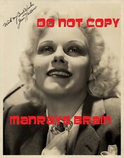 JEAN HARLOW Signed Autograph RP 8.5 x 11 Photo
