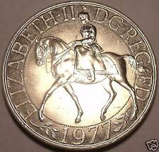 Gem Unc Great Britain 1977 25 Pence~Jubilee Of Reign Commemorative~Free Shipping