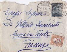 BUSTA SEGNATASSE 10 CENTESIMI 1916 CENT 20 SU 15 2-111