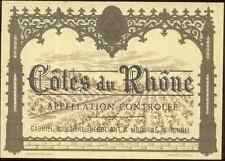 Etiquette de vin - Côtes du Rhône - Gabriel VOISSIERE