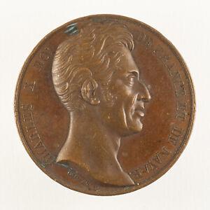 Médaille Charles X roi de France et de Navarre - 1825 - signée Rogat