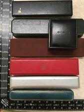 Vintage Jewelry Watch Box Group of 7 Gucci Jensen Tiffany Bulgari Baume Mercier