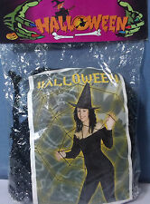 HALLOWEEN RAGNATELA NERO ARGENTO GLITTER ESTENSIBILE 1 MQ. DJ PARTY FESTA HORROR