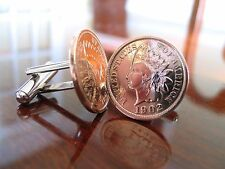 U.S. Vintage Indian Head Penny Coin Cufflinks