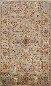Vegetable Dye Ziegler Oriental Geometric Area Rug Wool Hand-knotted 6'x8' Carpet