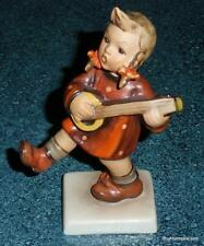 "Goebel Hummel Figurine ""Happiness"" TMK1 #86 Girl Playing Guitar Incised Crown!"