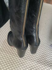 kg by kurt geiger shoes Size 41 Long Boots With Golden Zips Back Block Heel