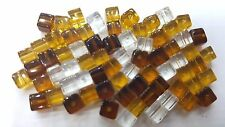 100 pieces 4mm  Crystal Glass Square / Cube Beads - BROWN MIX- A3038