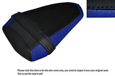 BLACK & ROYAL BLUE CUSTOM FITS YAMAHA YZF R1 R1M 2015 REAR LEATHER SEAT COVER