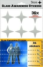 36 STARS Glass Awareness Stickers 50 mm Etched Effect Frosted Film Patio Doors