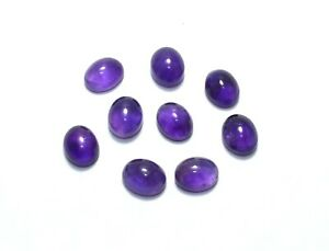 APP LARGE 20x15mm OVAL-CABOCHON-CUT DEEP-PURPLE NATURAL AFRICAN AMETHYST