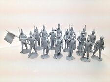 Marx Recast 54mm West Point Cadets 16 PCS Set Light Gray Color