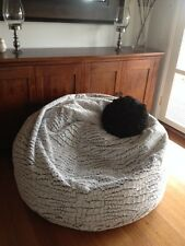 NEW X-Large and Large Stone Fur Velvet Bean Bag Chairs for adults and kids .