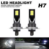 2x H7 LED Headlight Bulbs Conversion Kit High Low Beam Fog Light 110W 6000K