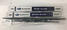 2008-2014 Subaru Tribeca B9 Front & Rear Windshield Wiper Blades Set Genuine OEM